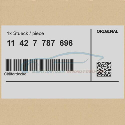 Original BMW 11427787696 Ölfilterdeckel 1er 3er 5er 7er X3