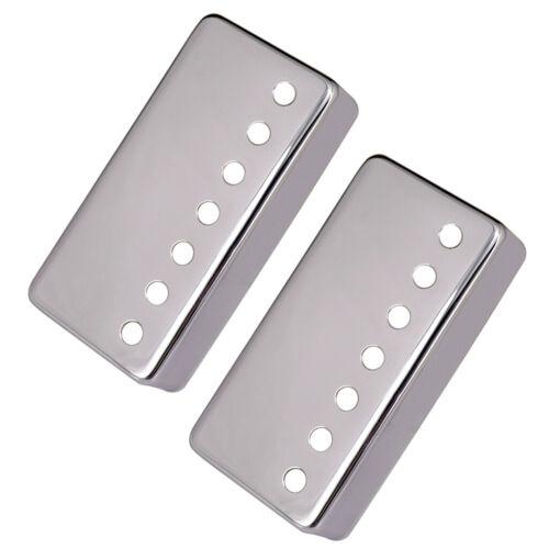 2 Stück Messing Humbucker Pickup Covers für 7 String Les Paul Ersatz Silber