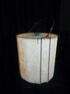 Antique-Vintage-Ideal-Wire-Framed-Styrofoam-Minnow-Bucket-w-Lid-Fishing-Bait-1