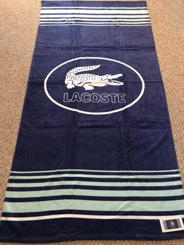 "Authentic Lacoste Beach Towel Pool 100/% Cotton 36x72/"" Iconic Logo New"