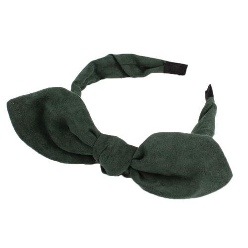 Rabbit Ear Suede Headband Big Bow Women  Head Hoop Hairband Hair Accessories BG