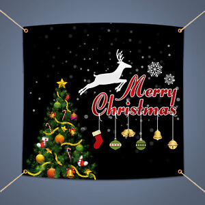 Details About Merry Christmas Banner 3 X 2 Outdoor Home Party Decor Waterproof Vinyl Sign