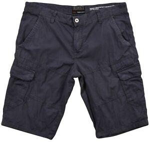 Angelo-Litrico-Homme-Short-Cargo-Gris-Coton-Bouton-Poche-Sz-56-Authentique