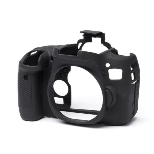 EasyCover Silicona Cámara Skin Funda Protectora Protector Para Canon Eos 760d-Negro