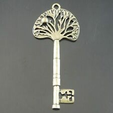 10PCS Antiqued Style Bronze Alloy Tree Shaped Key Pendant Charms 76*32*2mm