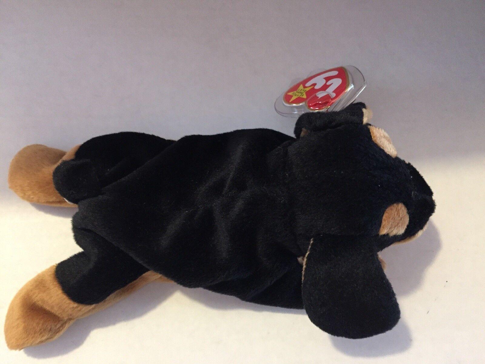 TY Beanie Beanie Beanie Baby DOBY THE DOG 8  Plush Stuffed Animal NEW b8076f