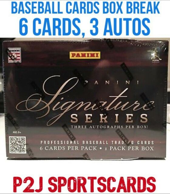 b627e5c1bfa 2012 Panini Signature Series BASEBALL Hobby BOX BREAK- 1 Random Team- Break  265