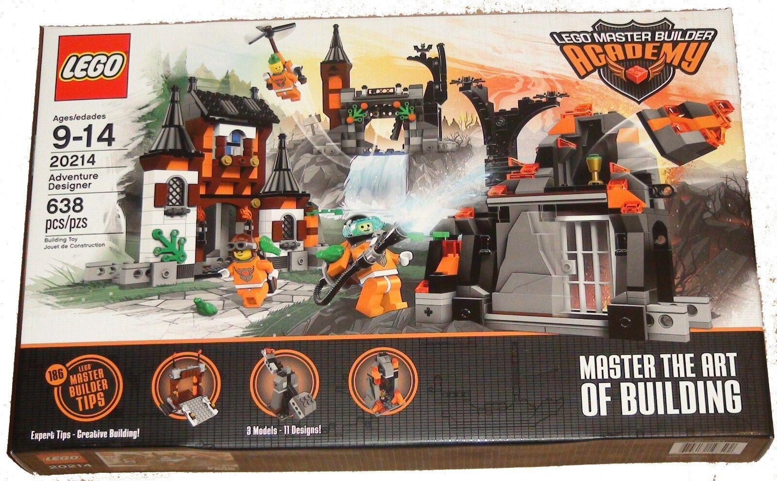 LEGO 20214 Adventure Designer Master Builder Academy 3 books 11 designs modular