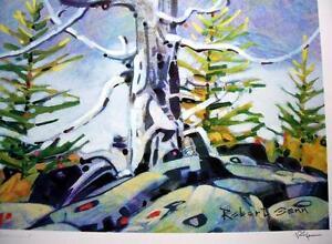 Monument-Robert-Genn-Original-Lithograph-Canadian-Landscape-L-E-Signed-COA