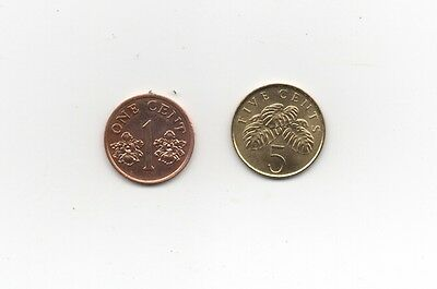 #6443# (M697) Singapur - 5 Cents / 1 Cent