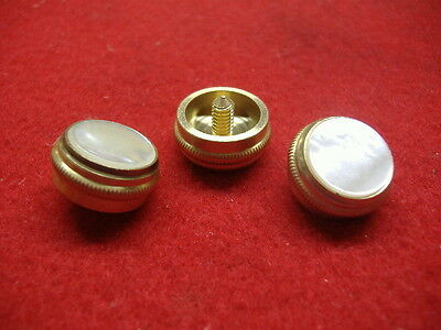 New Baritone//Euphonium Brass Finger Buttons w//Felts Set of 3! For King /& Olds