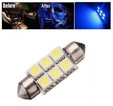 2x Ultra Blue 42mm 578 LED 211-2 Light Bulbs Festoon 5050 Dome Map Cargo Lamps