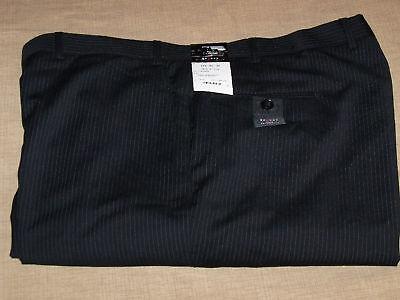 NWT BLACK 48 X 34 AXCESS FLAT FRONT DRESS PANTS