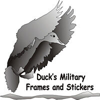 Duck's Military Frames and Stickers
