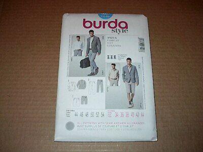 Pants Bermuda Shorts Burda Sew Pattern 7046 Sz 34-44 Men/'s Fitted Suit Jacket