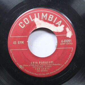 Hear-Jazz-Exotica-45-Tom-Scott-38Th-Parallel-Coloraydo-Trail-On-Columbia