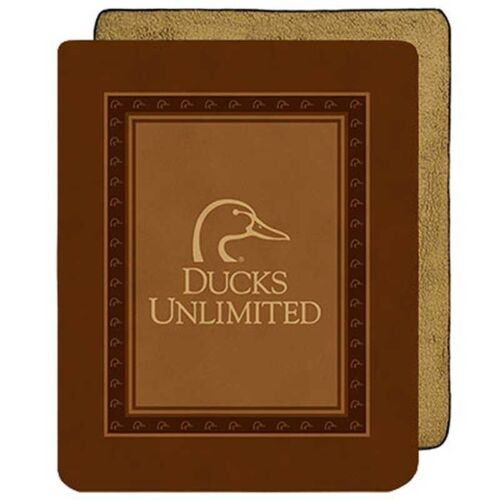 Ducks Unlimited Heavy Weight Micro Mink to Sherpa Throw Blanket