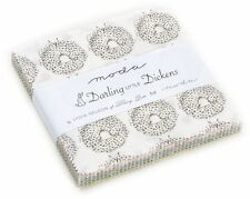 """Darling Little Dickens Moda Charm Pack 42 100% Cotton 5"""" Precut Quilt Squares"""