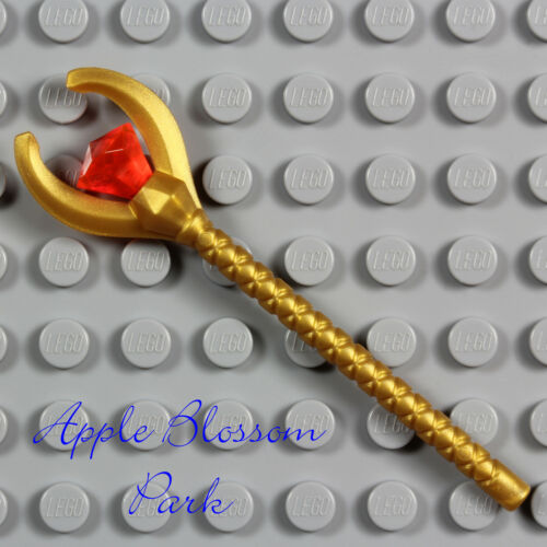 NEW Lego Pharaoh Quest GOLD STAFF  Mummy Minifig Weapon w//Neon Orange Jewel Gem