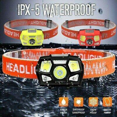 4 LED USB Stirnlampe Kopflampe Scheinwerfer Wiederaufladbar  Wasserdicht IPX5 DE