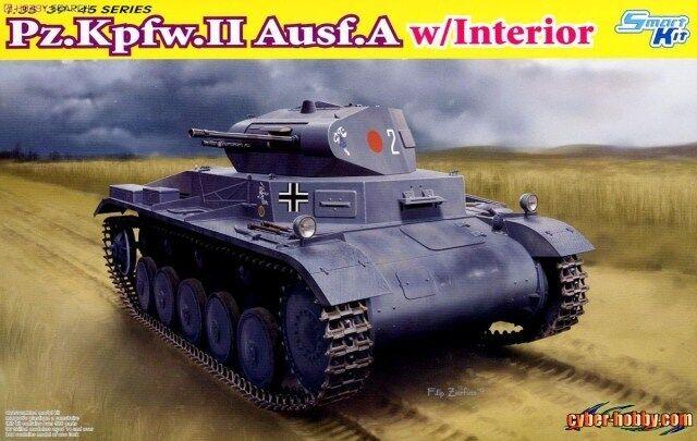 Dragon 1 35 Pz.Kpfw.II Ausf. A w  Interior tank plastic model kit new 6687
