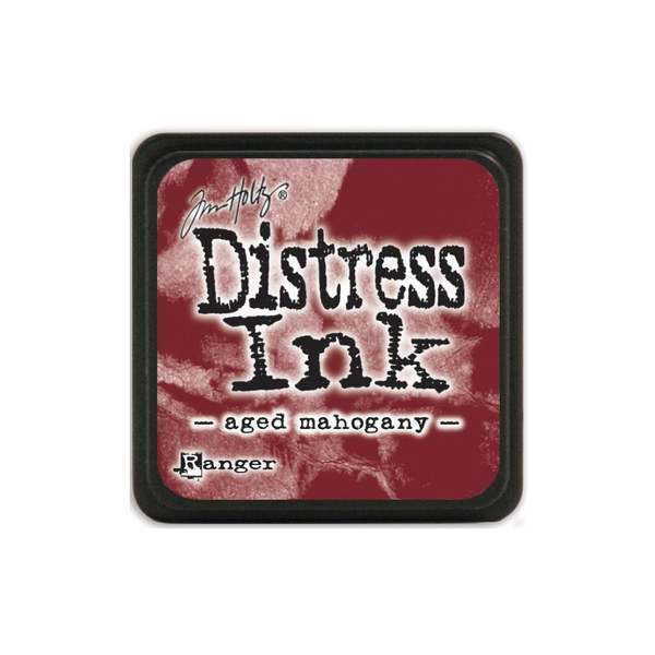 Tim Holtz Mini Distress Ink Pad AGED MAHOGANY Red, Burgundy, Maroon