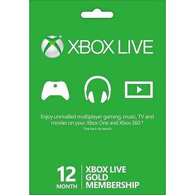 12 Mesi Xbox Live Gold Abbonamento ANNUALE per Microsoft Xbox ONE e XBOX 360 IT