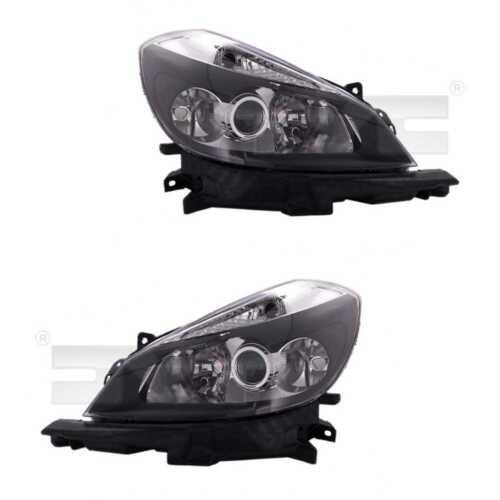 Scheinwerfer Set links /& rechts Schwarz H1//H7//H7 mit Abbiegelicht für Renault