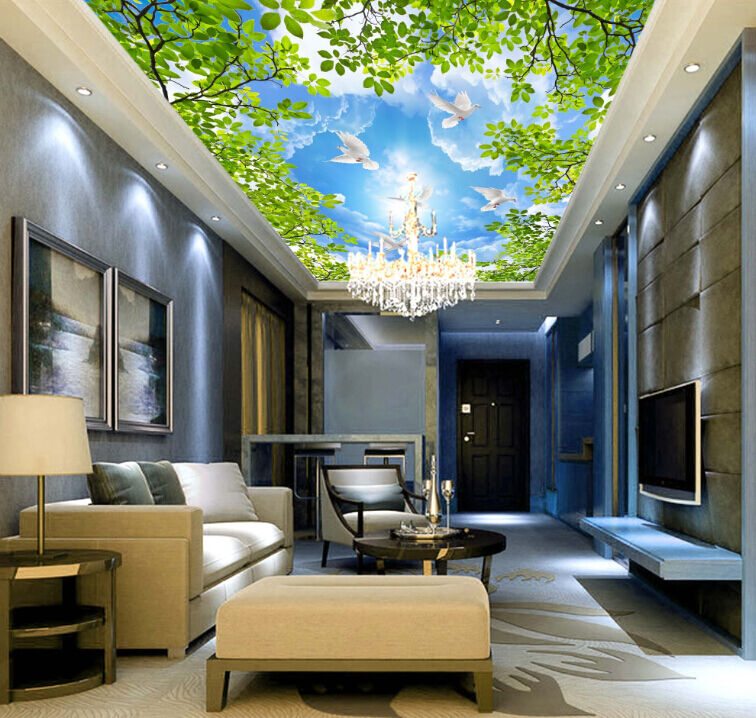 3D Leaf Sky Angel Cloud WallPaper Murals Wall Print Decal Deco AJ WALLPAPER GB