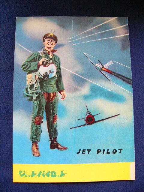 1957 JET PILOT Japan VINTAGE PROGRAM John Wayne Janet Leigh Jay C. Flippen
