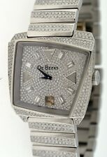 De Beers Talisman White Gold Ladies ALL Diamond Watch.