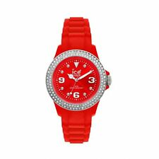 Ice Watch Stone-Red Silver Sili Small Swarovski Crystal Watch ST.RS.S.S.10