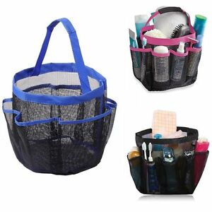 Quick Dry Storage Pouch Toiletry Organizer Hanging Caddy Bag Shower Tote Mesh