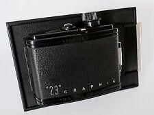 """Graflex """"23"""" 6x9 Roll Film Back (5x4). Film Tested. Nr Mint!"""