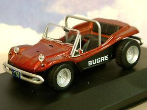 Great-Whitebox-DIECAST-1-43-1970-Bugre-plage-dune-buggy-Metallic-Rouge-Noir-WB156