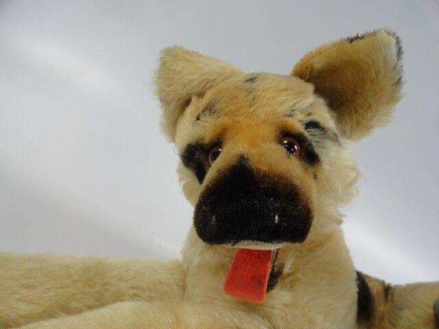 Autentisk årgång STEIFF Plush Tysk Shepard Puppy Tyskland