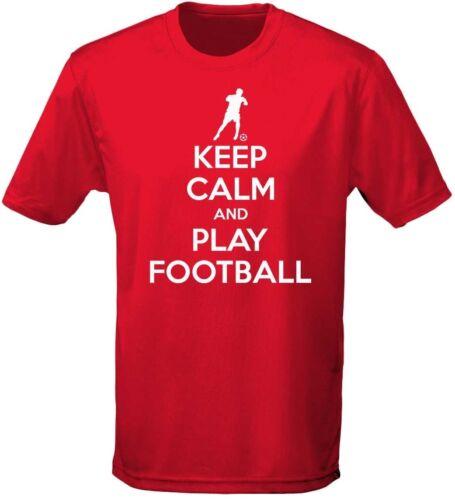 Keep Calm E Giocare A Football Bambini Unisex T-shirt 8 colori XS-XL da swagwear