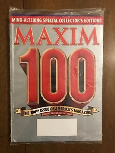 Maxim Magazine 100th Issue Of America SEALED Blank Address Label Collector's