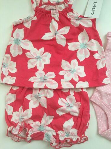 Carter/'s Girl Floral Tank Top Bodysuit Bubble Shorts Size 3 6 9 12 18 24 Months