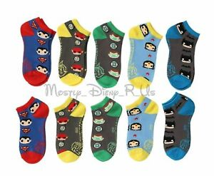 DC-Comics-POP-Heroes-Batman-Superman-Green-Lantern-5-Pair-No-Show-Ankle-Socks