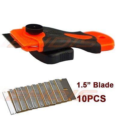 GLASS & CERAMIC CLEANING NON SCRATCH PAINT SCRAPER WITH 10 SPARE RAZOR BLADES UK