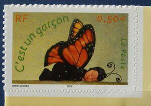 STAMP-TIMBRE-FRANCE-NEUF-N-3635-TIMBRES-NAISSANCE-PAPILLON-DE-CARNET