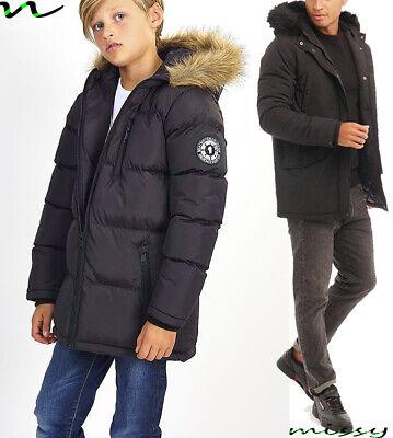 NEW BOYS COATS KIDS BACK TO SCHOOL REFLECTIVE PARKA JACKET WINTER WARM COAT SIZE