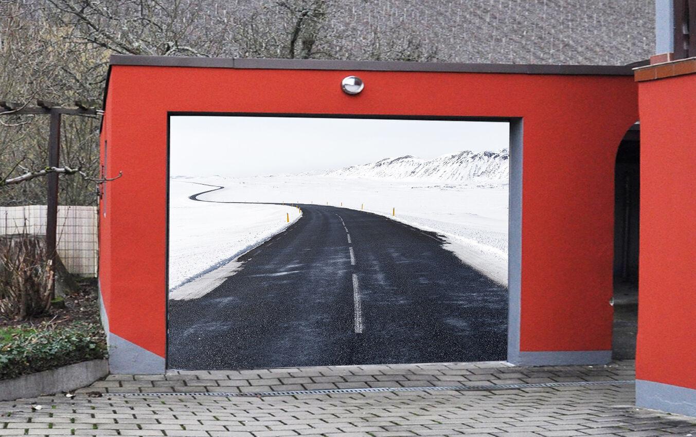 3D Ice Snow Road 7 Garage Door Murals Wall Print Decal Wall AJ WALLPAPER UK Carl