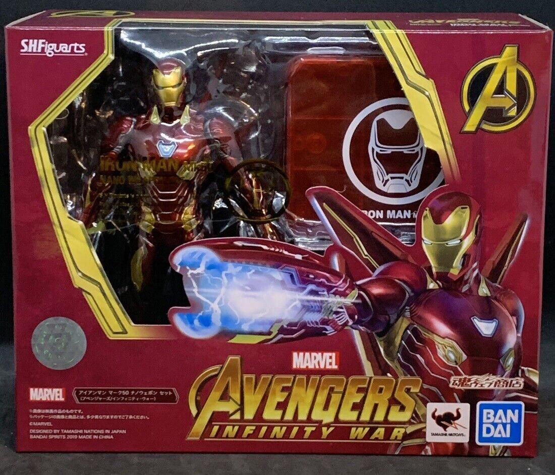 Bandai S.h. figuarts los vengadores Infinito Guerra Iron Man MK50 Nano Armas Set