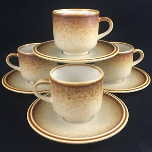 Set-of-4-VTG-Cups-and-Saucers-by-Premiere-Stoneware-Country-Casuals-F5800-Japan