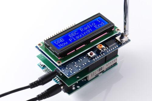 y pantalla LCD proyectos//FM Escudo Arduino M0 Radio DAB DAB//DAB clon