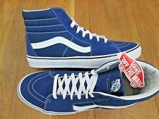 VANS Womens Sk8-hi Estate Blue True White Canvas Suede Skate Shoes Size 8