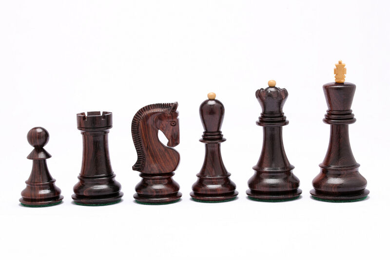 Russian Zagreb Staunton Chess Pieces in pink pink pink Wood  Box Wood - 3.8  King 4a924c