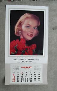 Vintage Murphy Salesman Sample 1963 Wall Calendar Litho Print Blonde Woman